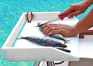T10-302 / T10-303 - Mesa Bait/Filet Mate™ - Pescado